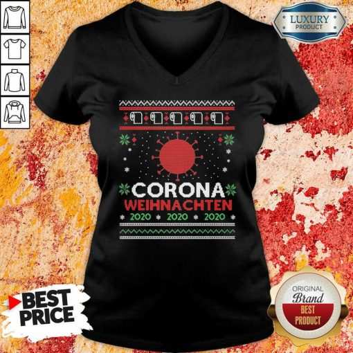 Nice Corona Weihnachten 2020 Ugly Christmas V-neck-Design By Soyatees.com