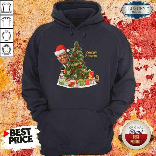 Nice Donald Trump Merry Christmas Tree Hoodie-Design By Soyatees.com