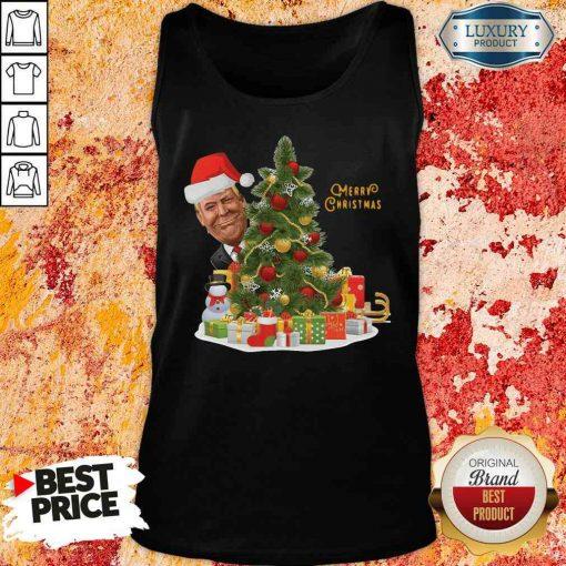 Nice Donald Trump Merry Christmas Tree Tank Top-Design By Soyatees.com