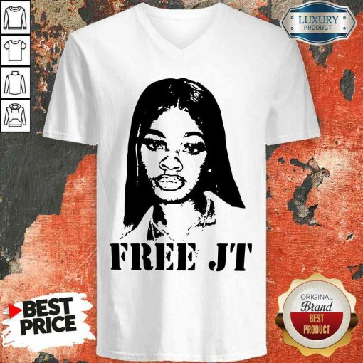 Nice Free Jt 2020 V-neck-Design By Soyatees.com