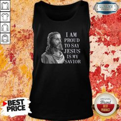 I Am Proud To Say Jesus Is My Savior Tank Top-Design By Soyatees.com