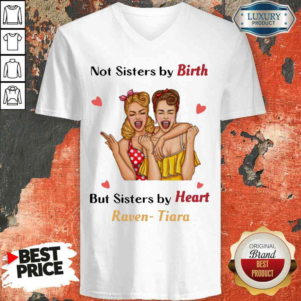 Nice Not Sister By Birth But Sisters By Heart Raven Tiara V-neck-Design By Soyatees.com