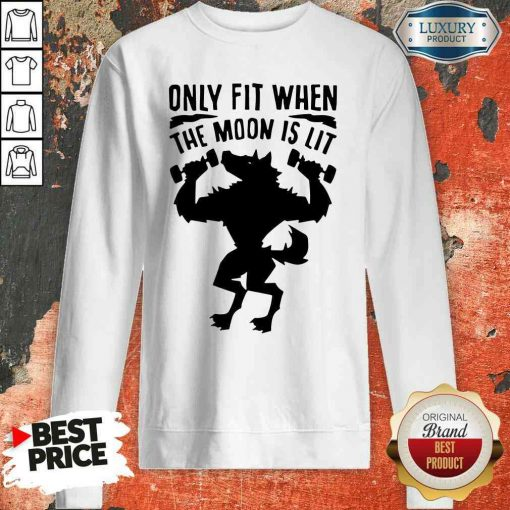 Nice Only Fit When The Moon Is Lit Sweatshirt-Design By Soyatees.com