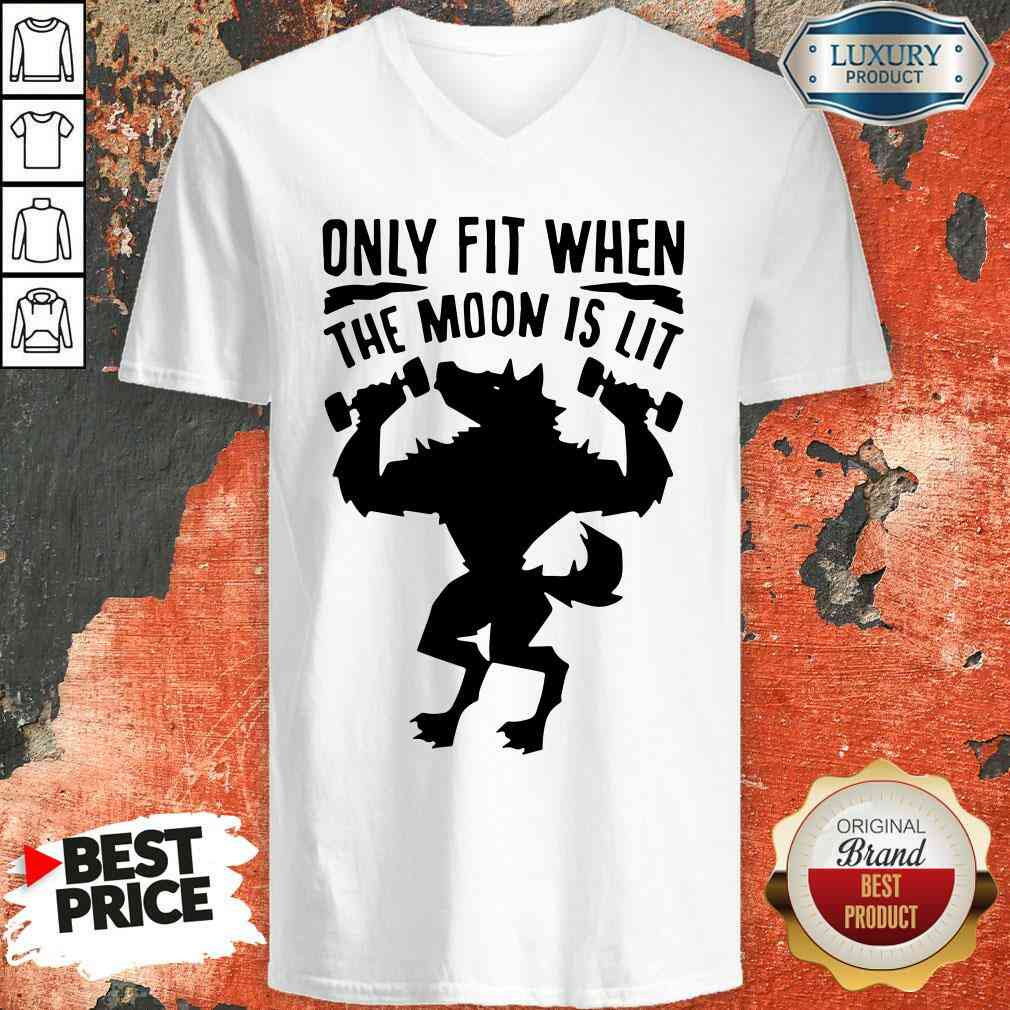 Nice Only Fit When The Moon Is Lit V-neck-Design By Soyatees.com