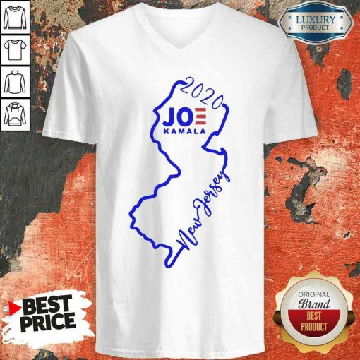 Official Joe Biden And Kamala Harris Win New Jersey 2020 V-neck-Design By Soyatees.com