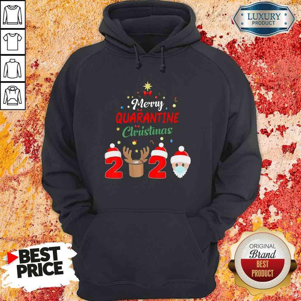 Official Merry Quarantine Christmas Hoodie-Design By Soyatees.com
