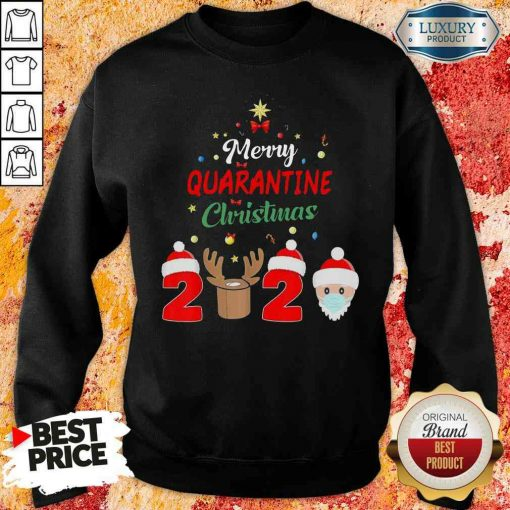 Official Merry Quarantine Christmas Sweatshirt-Design By Soyatees.com