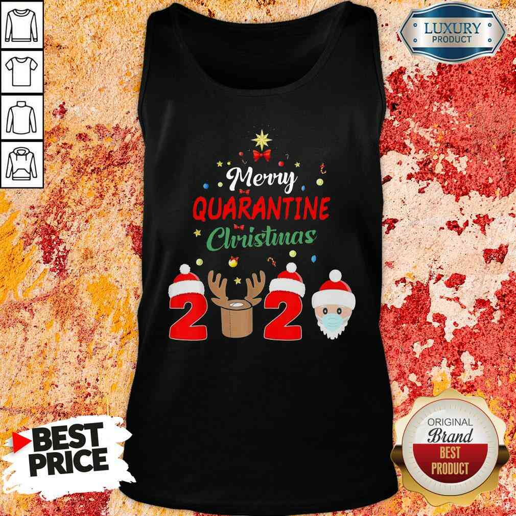 Official Merry Quarantine Christmas Tank Top-Design By Soyatees.com