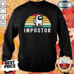 Vintage Sunset Gaming Meme Impostor Among Game Us Sus Gift Sweatshirt-Design By Soyatees.com