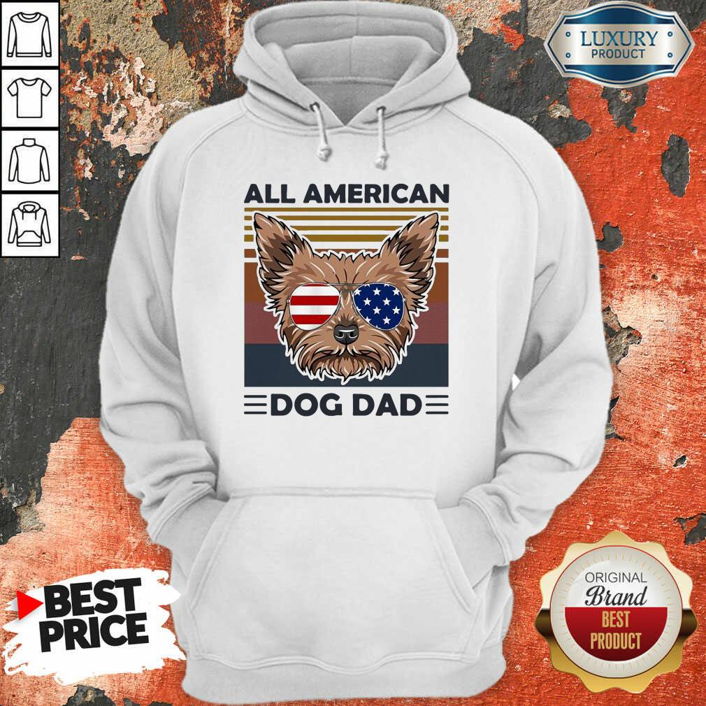 Yorkie All American Dog Dad Vintage Hoodie-Design By Soyatees.com