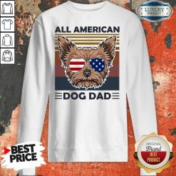 Yorkie All American Dog Dad Vintage Sweatshirt-Design By Soyatees.com