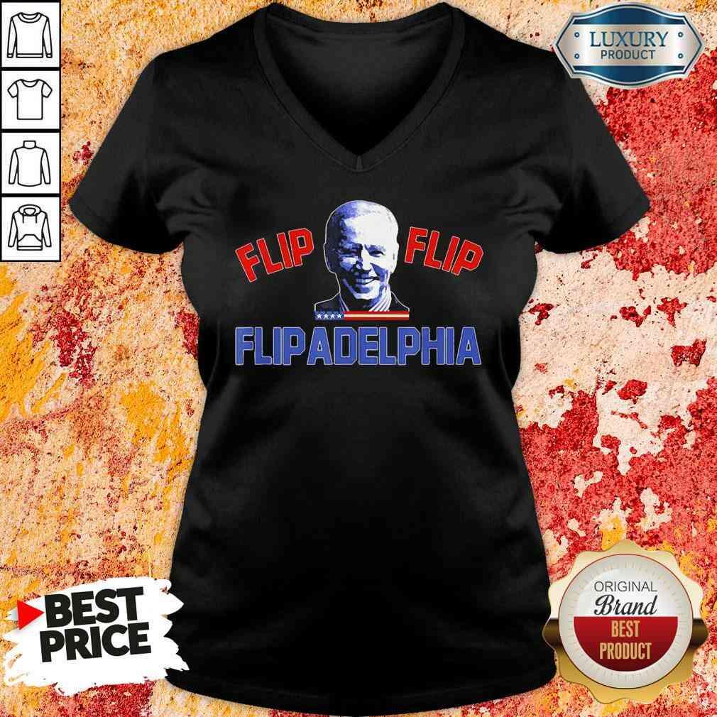 Original Biden Election and Flip Flip Flipadelphia 2021 Tee  V-neck-Design By Soyatees.com