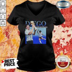 Diego Armando Maradona Soccer World Cup V-neck-Design By Soyatees.com