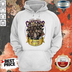 Nwt 2020 Nba Champions Lakers Cartoon Hoodie-Design By Soyatees.com
