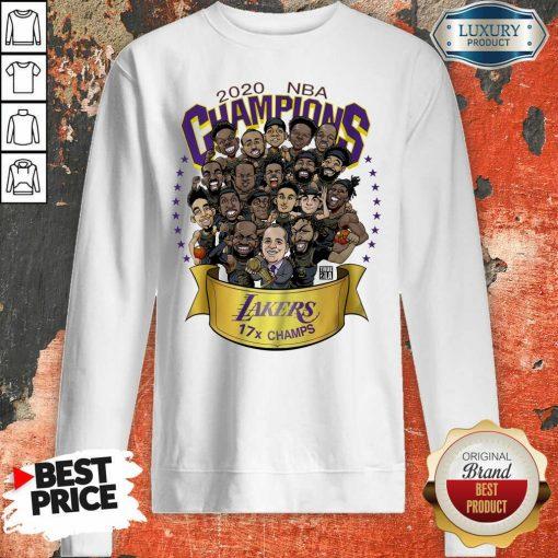 Nwt 2020 Nba Champions Lakers Cartoon Sweatshirt-Design By Soyatees.com