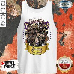 Nwt 2020 Nba Champions Lakers Cartoon Tank Top-Design By Soyatees.com