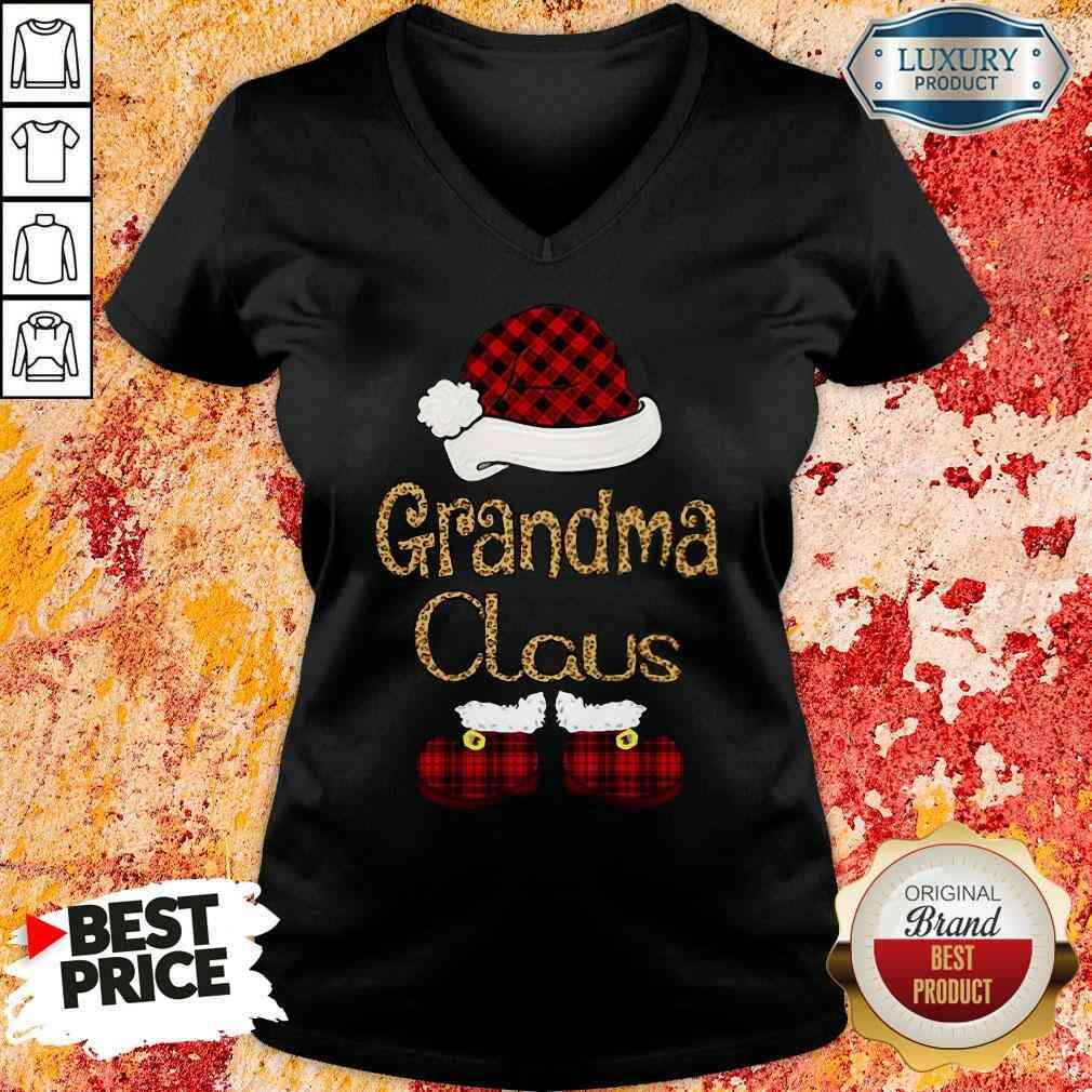 Original Santa Claus Grandma Claus V-neck-Design By Soyatees.com