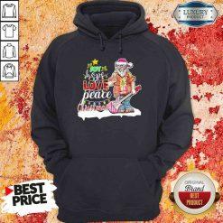 Original Santa Joy Hope Love Peace Christmas Hoodie-Design By Soyatees.com