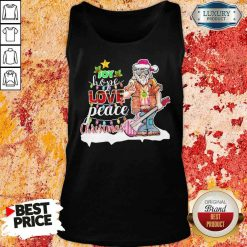 Original Santa Joy Hope Love Peace Christmas Tank Top-Design By Soyatees.com