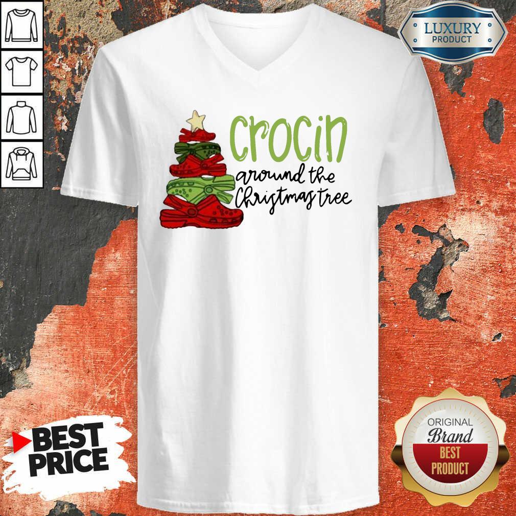 Crocin' Around The Christmas Tree V-neck-Design By Soyatees.com