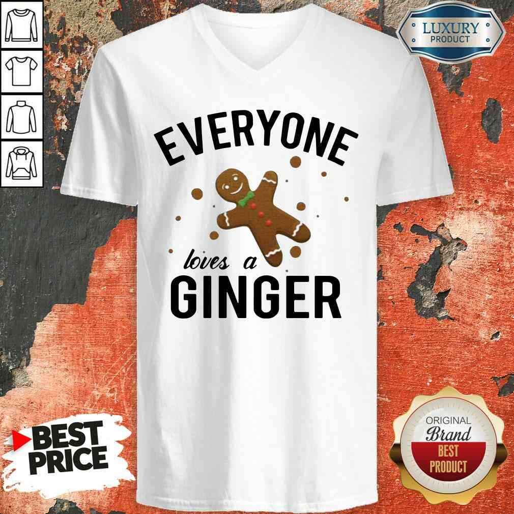 Perfect Everyone Loves A Ginger Gingerbread  V-neck-Design By Soyatees.com