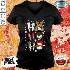 Perfect Harry Potter Ho Ho Ho Merry Christmas V-neck-Design By Soyatees.com