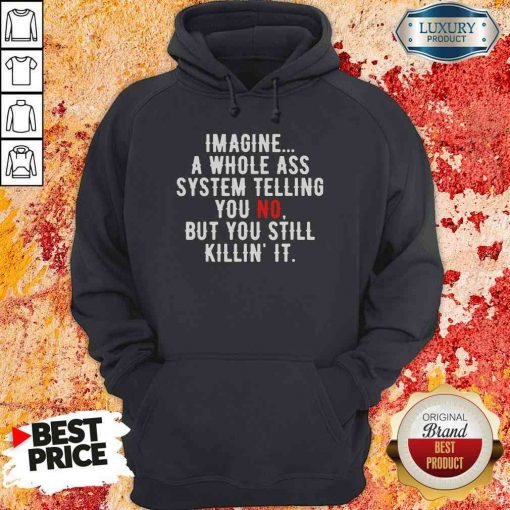 Perfect Imagine A Whole Ass System Telling You No But You Still Hoodie-Design By Soyatees.com