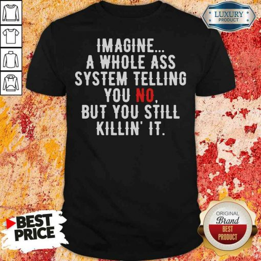 Perfect Imagine A Whole Ass System Telling You No But You Still Shirt-Design By Soyatees.com