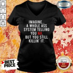 Perfect Imagine A Whole Ass System Telling You No But You Still V-neck-Design By Soyatees.com