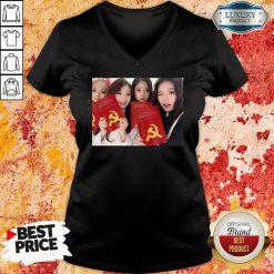 Loona The Communist Manifesto V-neck-Design By Soyatees.com