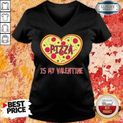 Perfect Pizza Is My Valentine V-neck-Design By Soyatees.com