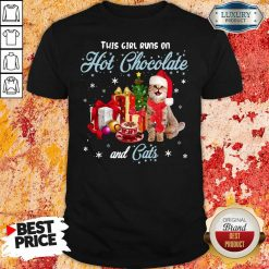 This Girl Runs On Hot Chocolate And Cats Christmas Shirt-Design By Soyatees.com