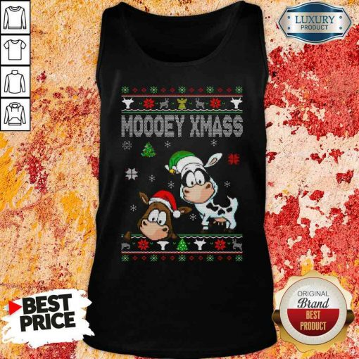 Premium Cows Moooey Xmass Ugly Christmas Tank Top-Design By Soyatees.com