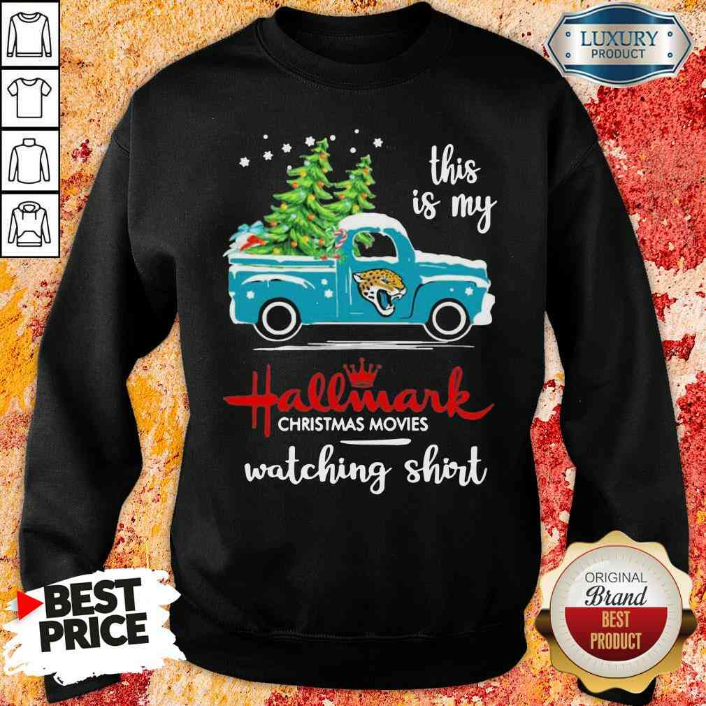 Premium Jacksonville Jaguars This Is My Hallmark Christmas Movies Watching Sweatshirt-Design By Soyatees.com