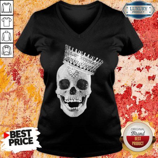 Premium King Skull Diamond V-neck-Design By Soyatees.com