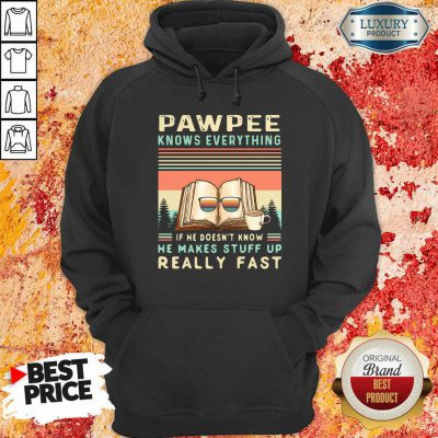 Reading Books And Coffee Pawpee Know Everything If He Doesn'T Know He Makes Stuff Up Really Fast Hoodie-Design By Soyatees.com