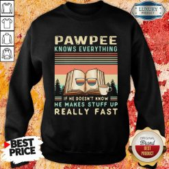 Reading Books And Coffee Pawpee Know Everything If He Doesn'T Know He Makes Stuff Up Really Fast Sweatshirt-Design By Soyatees.com