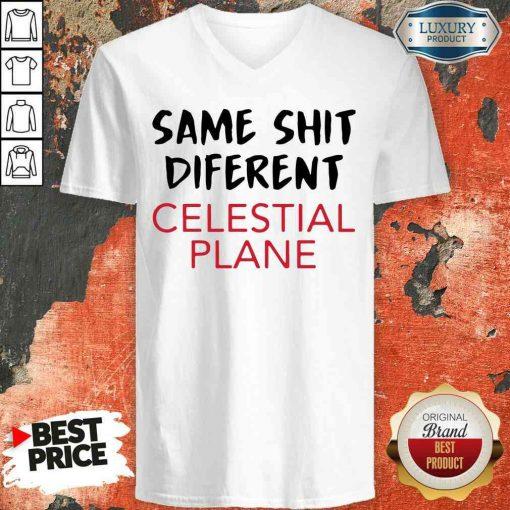 Premium Same Shit Different Celestial Plane V-neck-Design By Soyatees.com