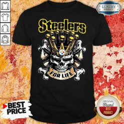 Skull King Pittsburgh Steelers For Life Shirt-Design By Soyatees.com