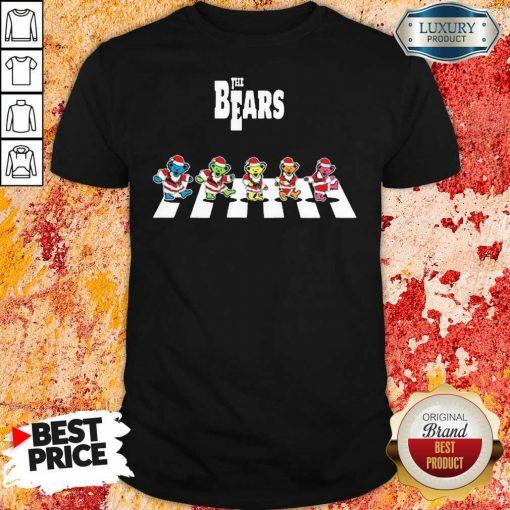 Santa Grateful Dead The Bears Abbey Road Merry Christmas Shirt-Design By Soyatees.com