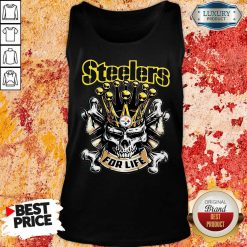 Skull King Pittsburgh Steelers For Life Tank Top-Design By Soyatees.com