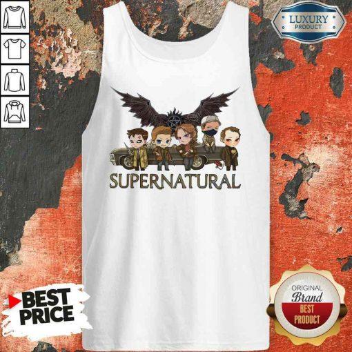 Premium Supernatural Chibi Tank Top-Design By Soyatees.com