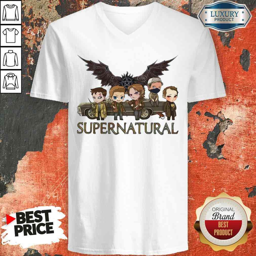 Premium Supernatural Chibi V-neck-Design By Soyatees.com