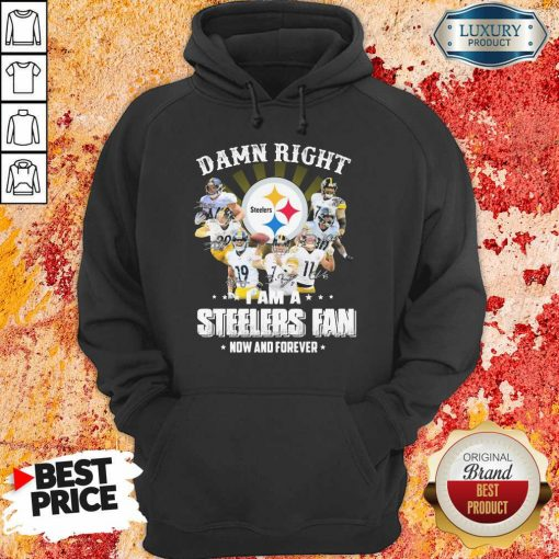 Damn Right Steelers Fan Now And Forever Hoodie-Design By Soyatees.com