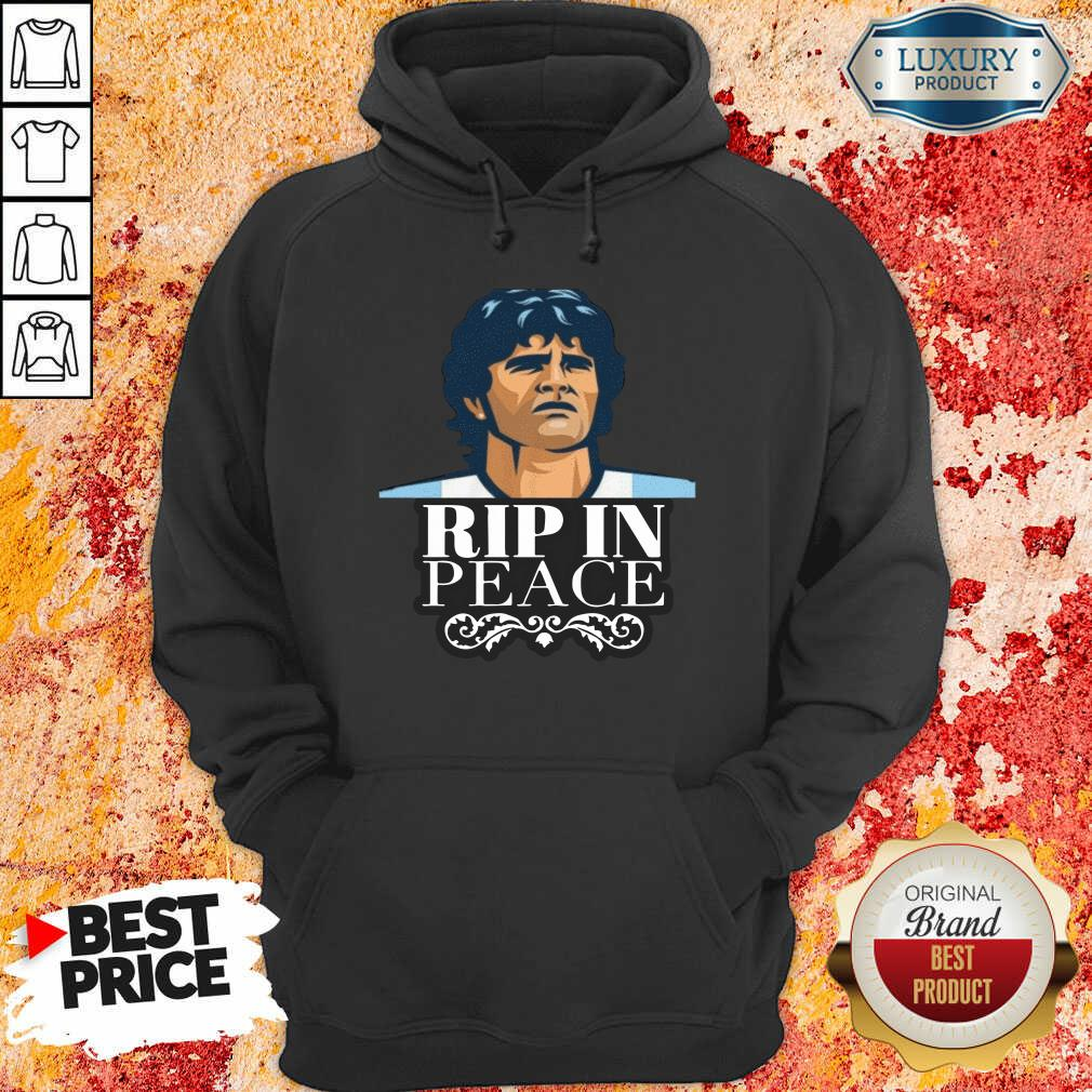 Diego Maradona Rip In Peace Hoodie-Design By Soyatees.com
