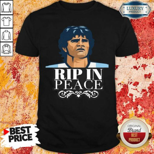 Diego Maradona Rip In Peace Shirt-Design By Soyatees.com
