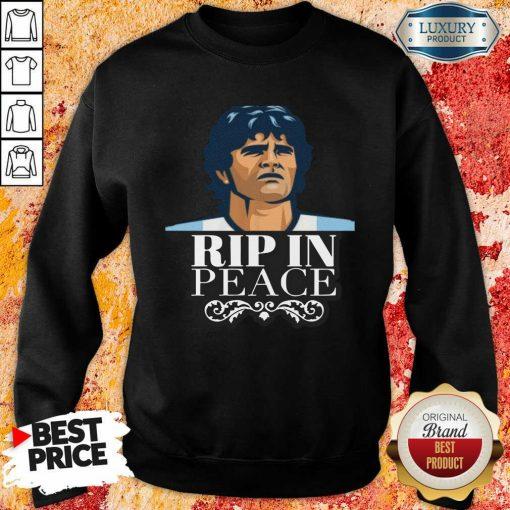 Diego Maradona Rip In Peace Sweatshirt-Design By Soyatees.com