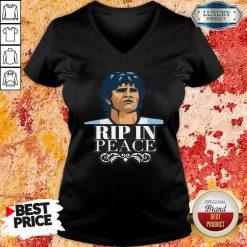 Diego Maradona Rip In Peace V-neck-Design By Soyatees.com
