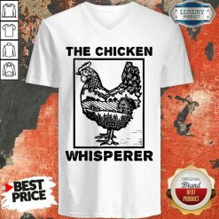Pretty Farmer Farming The Chicken Whisperer V-neck-Design By Soyatees.com