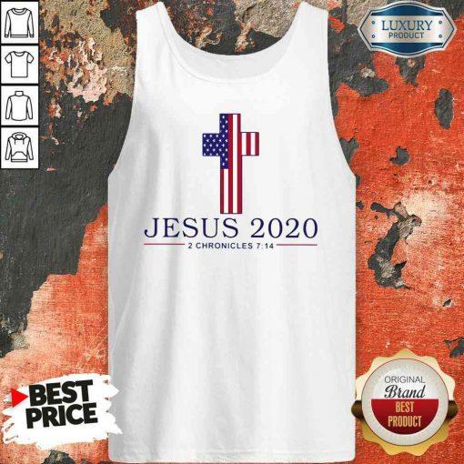 Pretty Jesus 2020 2 Chronicles 7 14 America Flag 2023 Tank Top-Design By Soyatees.com
